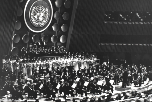 1955 United Nations Day Concert, Missa Solemnis, courtesy of the New York Philharmonic Archives.