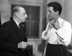 Bernstein with composer, Igor Stravinsky, 1946. Photographer: Ben Greenhaus. Courtesy of the Library of Congress Music Division.