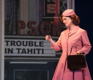 Itziar Lesaka in Meckelnburg State Theater's production of Trouble in Tahiti. ©Silke Winkler