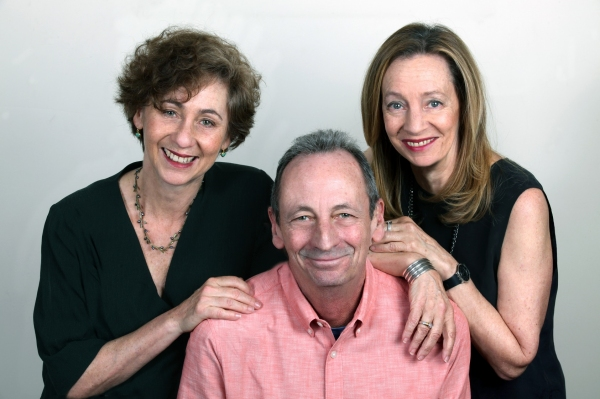 Jamie Bernstein (right), Alexander Bernstein (seated), and Nina Bernstein Simmons (left). (Photo credit: Steve Sherman/Courtesy of The Leonard Bernstein Office, Inc.)